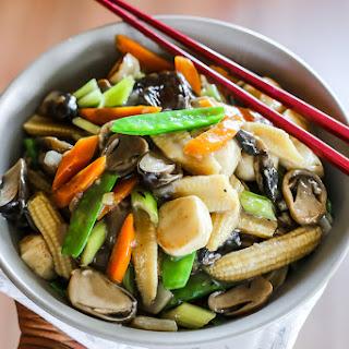 Stir Fried Mushrooms and Vegetables.