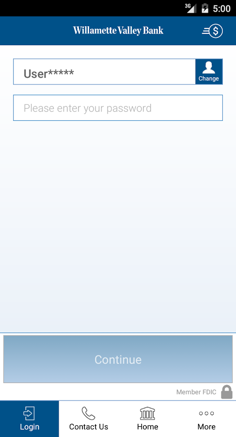 Willamette Valley Bank Mobile- screenshot