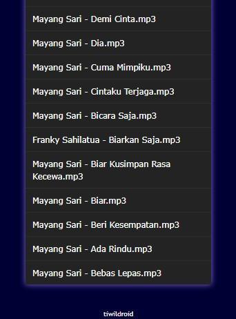 Download mayang sari tiada lagi mp3.