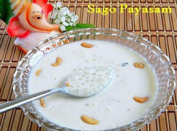 Indian Sweet Milk Dessert With Tapioca Pearls Recipe
