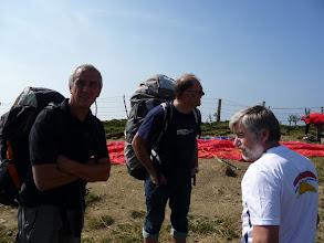Photo: jetzt haben auch wir geschnallt, dass wir mit einem Haufen Anfänger und Rückenwind am falschen Berg stehen