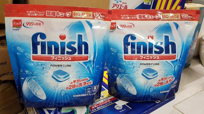 Viên rửa bát chén Finish dùng cho máy rửa bát 150 VIÊN (muối rửa, nước bóng, bột rửa)
