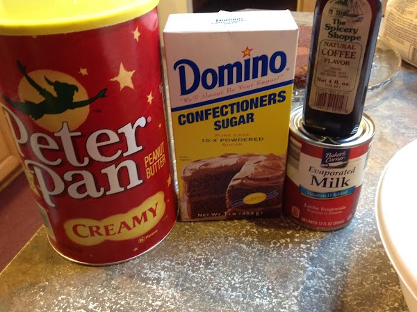 Most of the ingredients for the frosting. A more detailed instructions for the frosting...