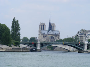 Photo: Notre Dame from the back, with the flying buttresses in full view.