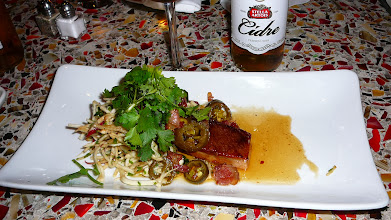 Photo: Pork belly. These appetizers and Stella cider were free, courtesy of Stella Artois!
