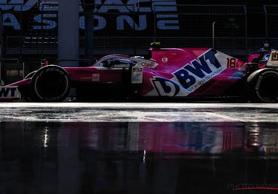 Lance Stroll vlamt in de regen naar snelste tijd in kwalificaties GP van Turkije