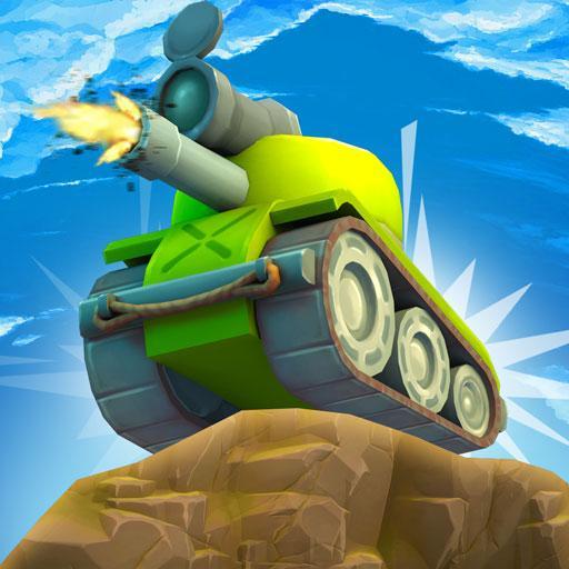 Toon Tanks on Hills Mission Iron Battle War Games icon