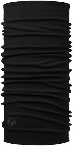 Buff Midweight Merino Wool Multifunctional Headwear: Black, One Size