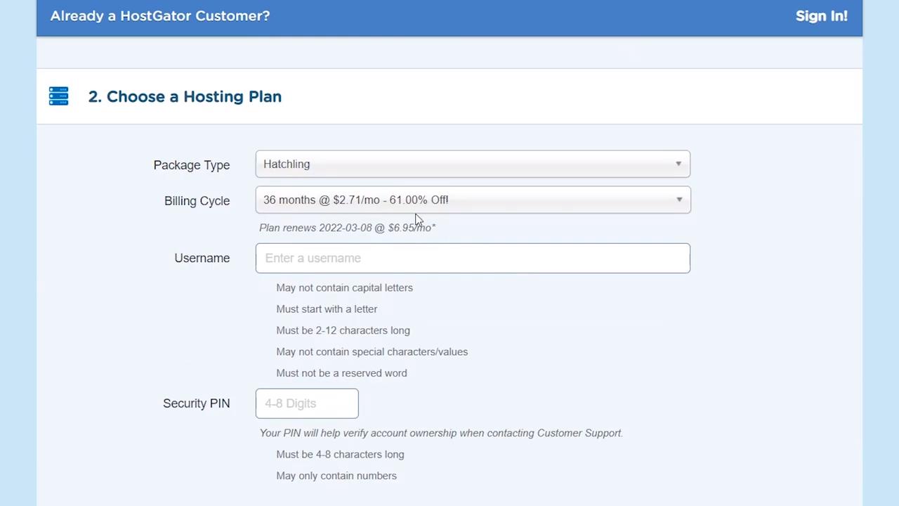 wordpress tutorial video choose hosting plan