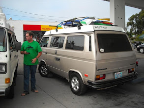 Photo: In Los Osos we asked this fellow with the nice Westy where GoWesty was--about 1.5 blocks from this Shell station!
