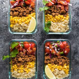 Turkey Taco Lunch Bowls (Meal Prep).