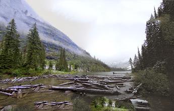 Photo: Panorama view at Avalanche Lake
