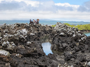 Photo: Channel in the lava...