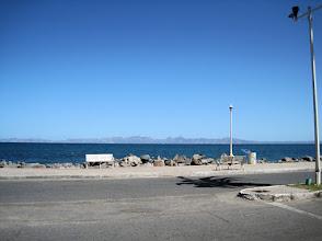 Photo: Loreto's boardwalk along the Sea of Cortes.