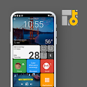 Square Home Key - Launcher: Windows style icon