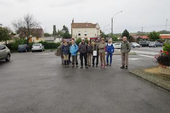 Photo: Le groupe au départ de Lizy sur Ourcq. Il manque Marie-Cécile, Josiane et Marc qui prend la photo
