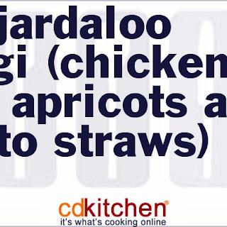 Sali Jardaloo Murgi (Chicken with Apricots and Potato Straws).