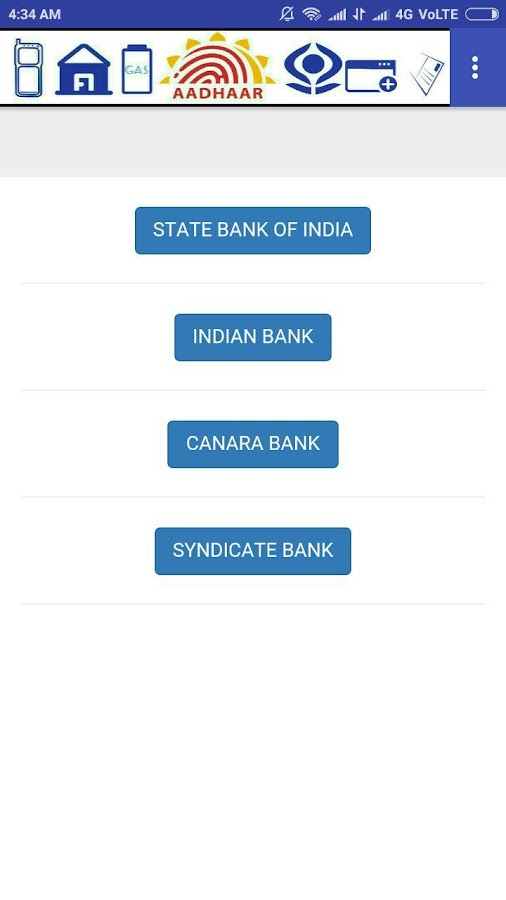 AADHAAR QUICK LINKS- screenshot