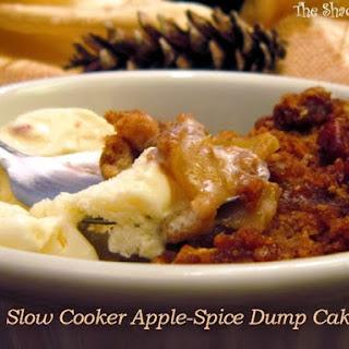 Slow Cooker Apple-Spice Dump Cake.