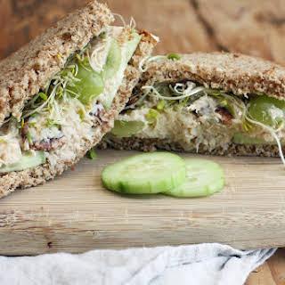 Light Chicken Salad Sandwiches.