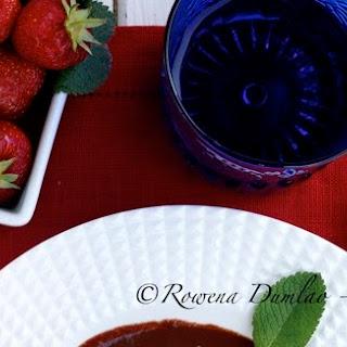 Strawberry Jelly in Chocolate Marsala Sauce.