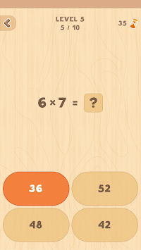 Multiplication table apk screenshot