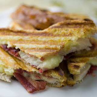 Turkey, Cranberry, Brie and Bacon Panini.