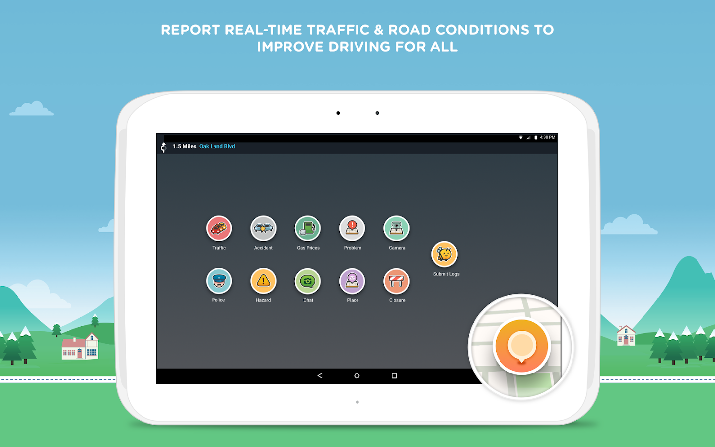 Screenshots of Waze for Android