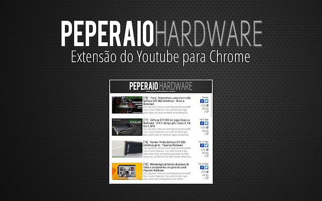 Vídeos PeperaioHardwareBR no Youtube