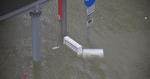 路牌被水淹沒 澳門內港已成汪洋