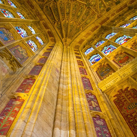 Sherborne Abbey by Chris Seaton - Buildings & Architecture Architectural Detail ( abbey, walls, sherborne, church, building detail,  )