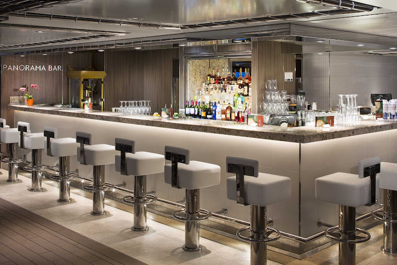 Relax and chat up some new friends at the Panorama Bar on ms Koningsdam.