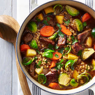 Beef-and-Barley Soup With Porcini.