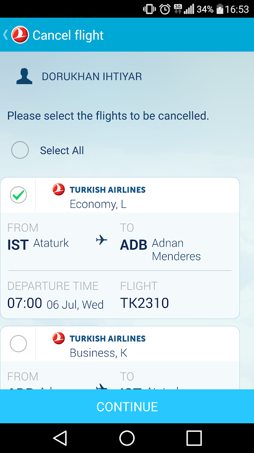 Turkish Airlines- screenshot