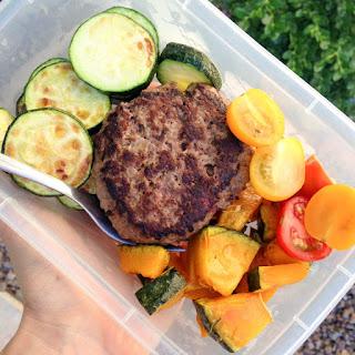 Burger & Veggie Meal Prep.