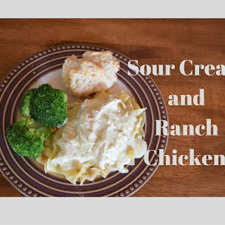 Crock Pot Cream Cheese and Ranch Chicken.