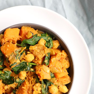 Butternut Squash Spinach Curry.