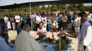 Photo: el Pa i el Vi de la celebració eucarística.
