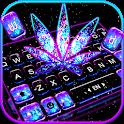 Shiny Galaxy Weed Keyboard Theme icon