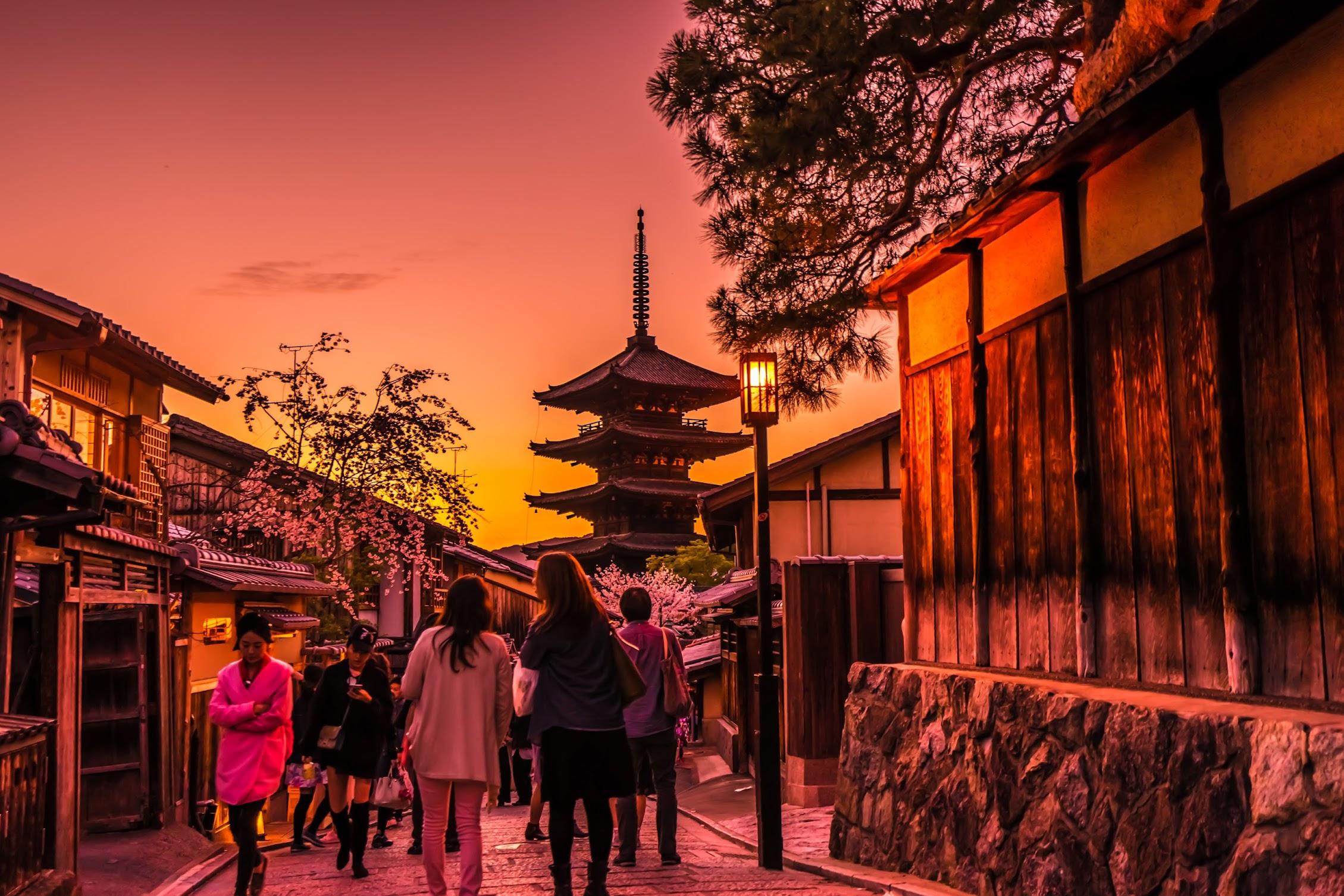 京都 八坂の塔 夕景6