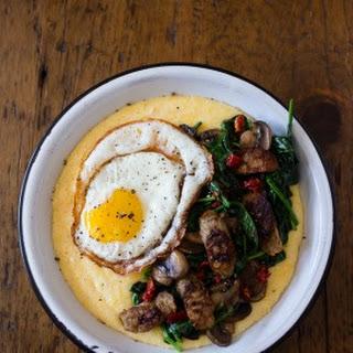 Cheesy Polenta Sausage Breakfast Bowl