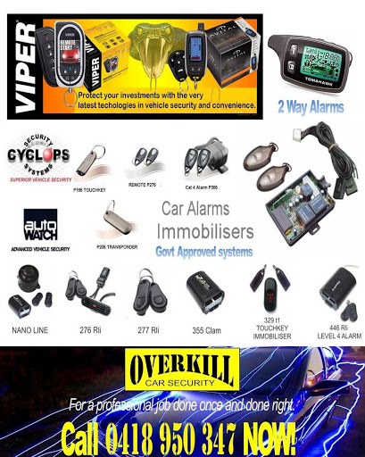 Overkill Car Security Alarms Immobilisers GPS Trackers NOR Perth WA