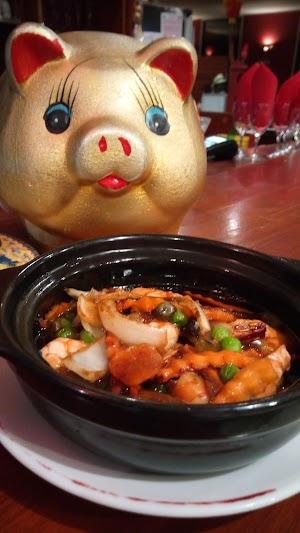 Crevettes wokées au caramel