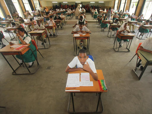 Candidates sitting for KCPE