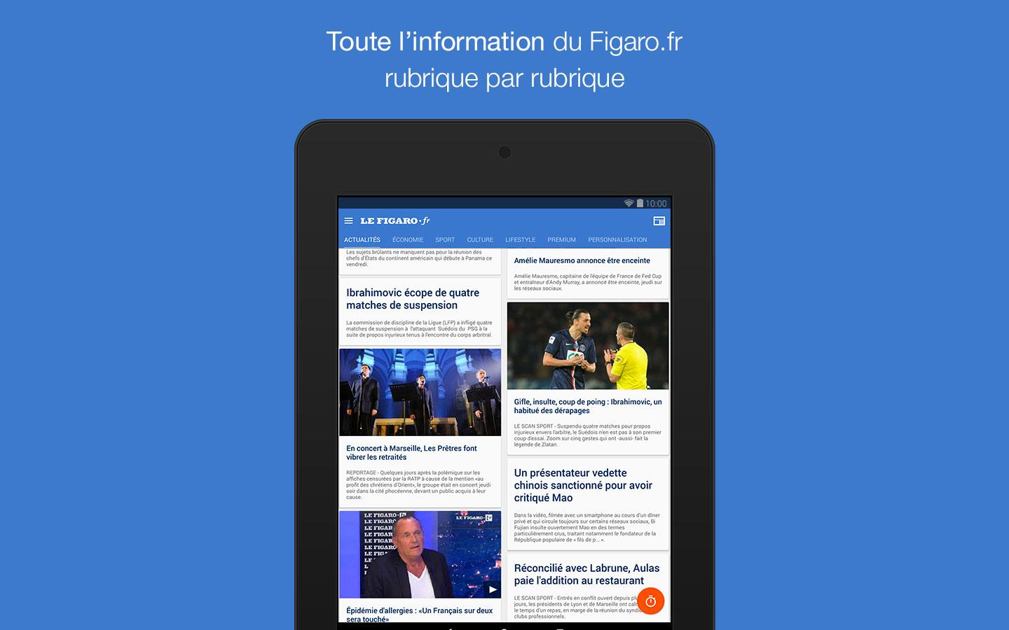 Le Figaro.fr, l'info en direct- screenshot
