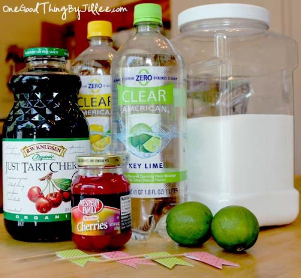 Heat the 4 cups of cherry juice over moderate heat until it begins to...