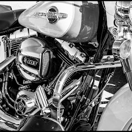 Motorcycle by Dave Lipchen - Black & White Objects & Still Life ( motorcycle )