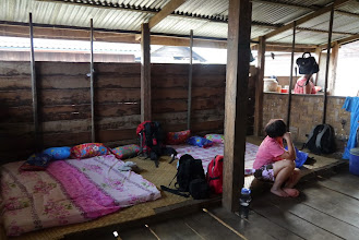 Photo: Basic but comfortable beddings for our village homestay. Later additions included mosquito nettings.