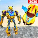 Flying car robot shooting games simulation 2020 icon