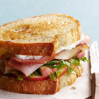 Grilled Ham and Chicken Sandwich.